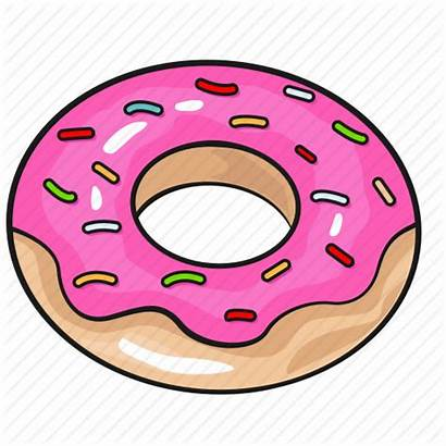 Donut Cartoon Template Doughnut Icon Line Icons