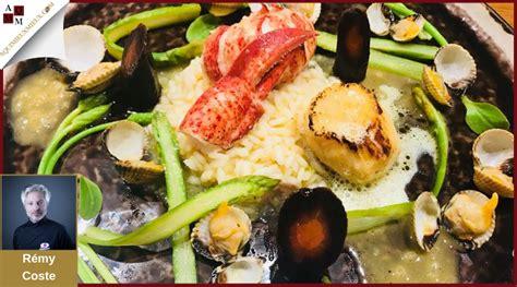 homard saint jacques risotto au fumet de crustaces