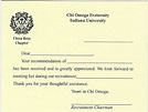 Alpha Stationery – Chi Omega Thermography Flat Cards