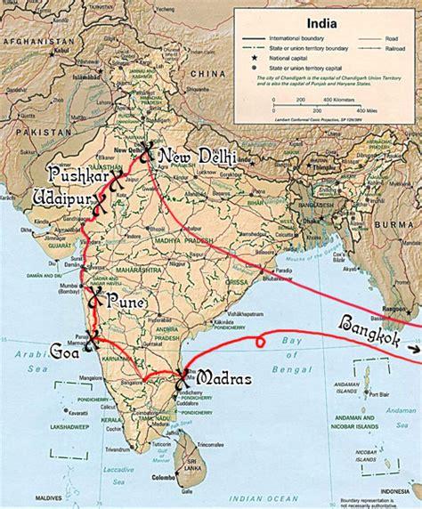 joseph  daniella bella india thailand bali  map
