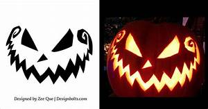 5, Free, Scary, Halloween, Pumpkin, Carving, Patterns, Stencils, U0026, Ideas, 2015