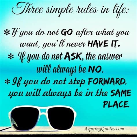 Three Simple Rules In Life  Aspiring Quotes