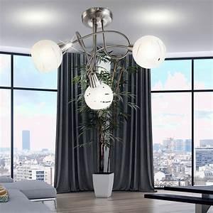 Deckenlampe Für Wohnzimmer : rgb led deckenlampe mit glas schirmen f r ihr wohnzimmer ~ Frokenaadalensverden.com Haus und Dekorationen