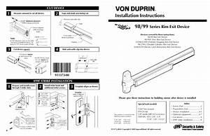 Factory Direct Hardware Von Duprin 98eo User Manual