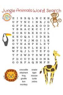 Jungle Animals Word Search Puzzles