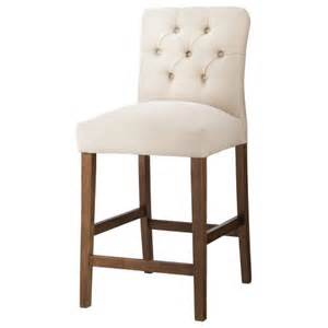 brookline tufted 25 quot counter stool hardwood th target