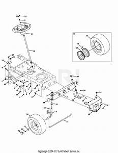 Troy Bilt 13wv78ks011 Bronco  2015  Parts Diagram For Front End Steering