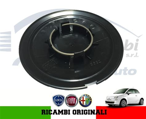 51884863 Hubcap Hubcap Fiat 500 Original Matte Black Edges