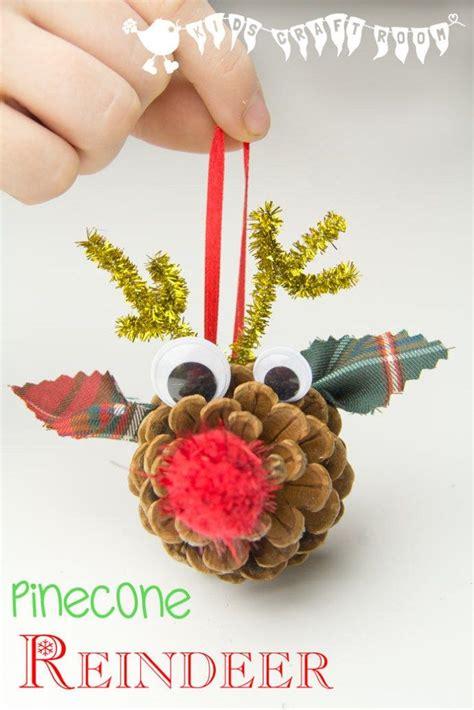 homemade christmas ornaments  kids nature inspired