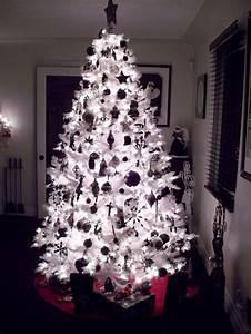 Black and White Christmas Tree | Night Time | Black ...