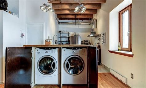 washer and dryer in kitchen island how to find the right spot for the washing machine 9595