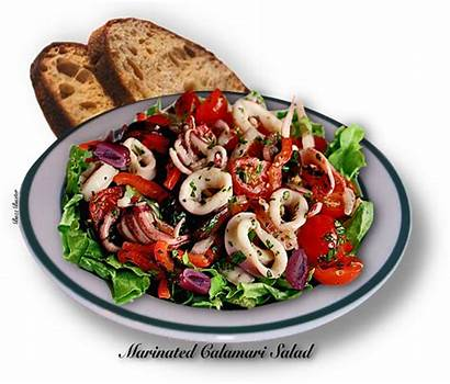 Salad Calamari Marinated Butter Thegutsygourmet Bed Recipes