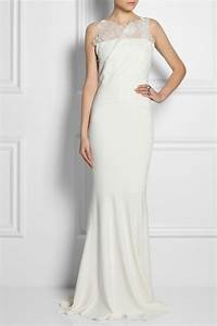 roland mouret mirah lace and stretch crepe fishtail gown With robe roland mouret