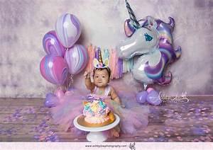 Unicorn Cake Smash Photoshoot by Ashley Low Photography - Give Fun