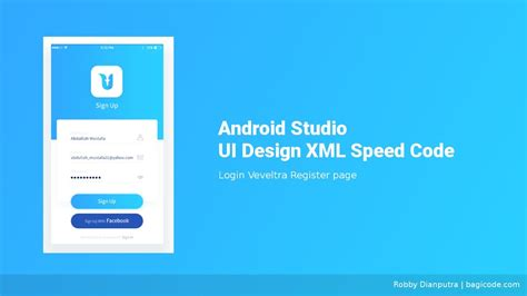 site login android login page veveltra android studio ui design xml speed
