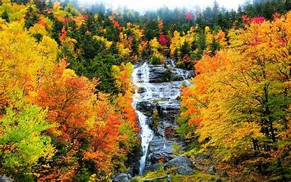 Scenery Fall Herbst Wallpapers Wasserfall Forest Wald