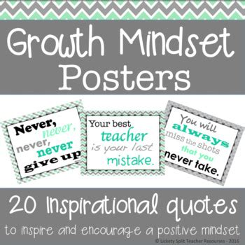 growth mindset inspirational quote posters  mint
