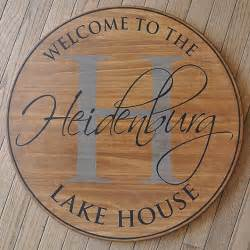 Lake House Personalized Name Signs