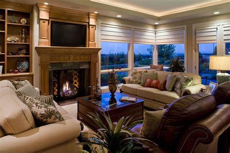 Kaufman Homes contemporary living room with large windows