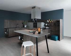 Mur Bleu Pétrole : peinture cuisine et combinaisons de couleurs en 57 id es ~ Melissatoandfro.com Idées de Décoration