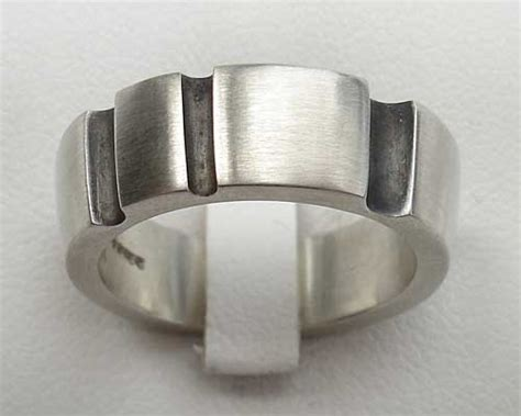 chunky mens silver contemporary ring lovehave uk