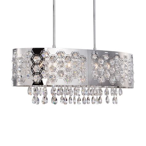 chandelier l shade new 6 light hexagon patterned oval shade