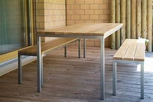 Gartentisch Holz Metall : gartentisch holz mit metallgestell ~ Eleganceandgraceweddings.com Haus und Dekorationen