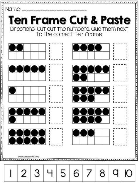 ten frame practice worksheets and ten frames