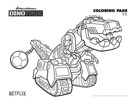Free Dinotrux Ty Coloring Page