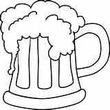 Beer Mug Outlined Clip Clker Buettner Fred Shared sketch template