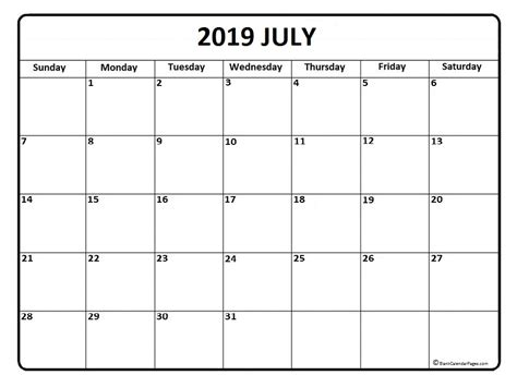 july calendar canada page month printable calendar