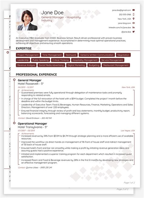 Create Cv Template by 8 Cv Templates For 2019 1 Click Edit