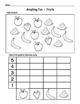 kindergarten math graphs easy graph worksheets by