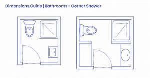 Corner Shower Bathrooms Dimensions  U0026 Drawings