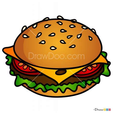 draw burger food