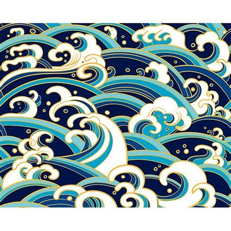 wals japanese waves wall mural  ohpopsi