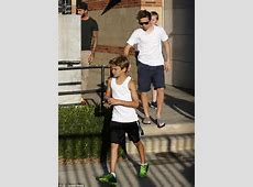 Retired David Beckham brings his boys to visit his old