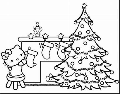 Coloring Christmas Pages Printable Eve Tree Trees