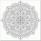 Coloring Kaleidoscope Pages Simple Adult Designs Adults Popular Sheets Template sketch template