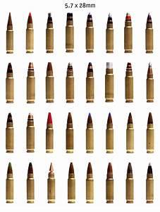 Ammunition Chart Poster Just Some 5 7x28mm Guns