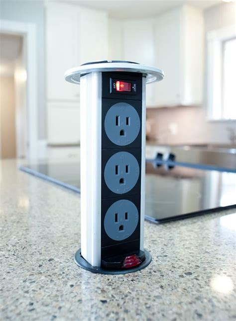 electrical popup outlet on kitchen island is it
