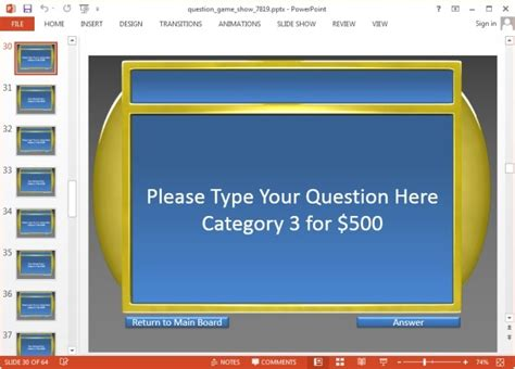 powerpoint game show jeopardy templates for powerpoint