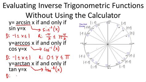 Definition Of The Inverse Of Trigonometric Ratios  Ck12 Foundation