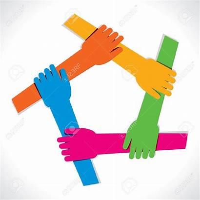 Team Spirit Unity Clipart Hands Hand Vector