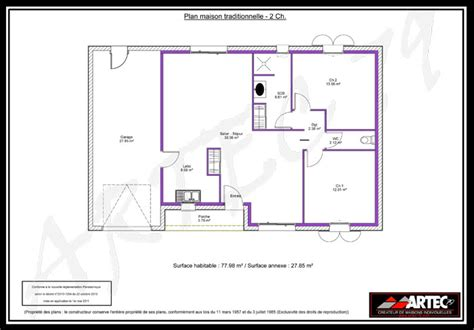 plan maison 2 chambres plan maison en l 2 chambres