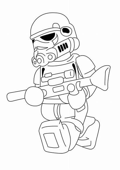 Lego Coloring Stormtrooper Pages Wars Star Printable