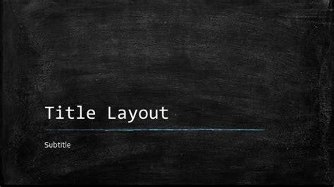 classroom chalkboard template  powerpoint
