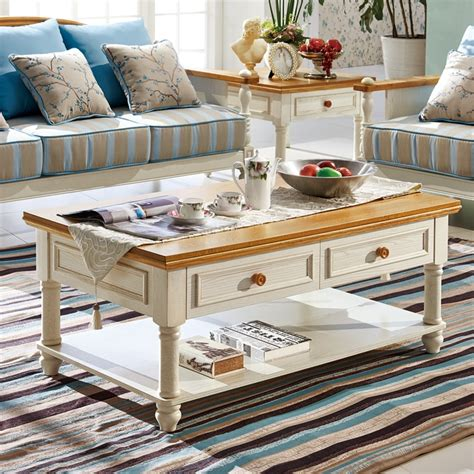 Letting go can be tough, however, when you've come to rely on their convenience and style. Solid wood coffee table rectangular double small fresh ...