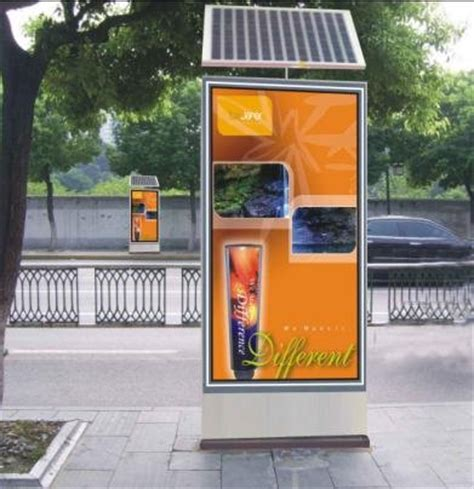 solar powered outdoor scrolling lightboxes buy outdoor
