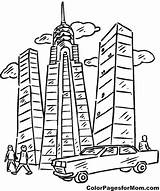 Coloring Building Buildings Apartment Skyscraper Pages Sheets Template Printable Colouring Skyscrapers Yahoo Print Adult Getcolorings Worksheets sketch template